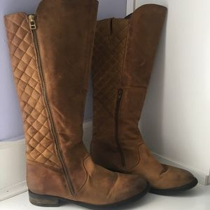 {Steve Madden} brown quilted riding boots